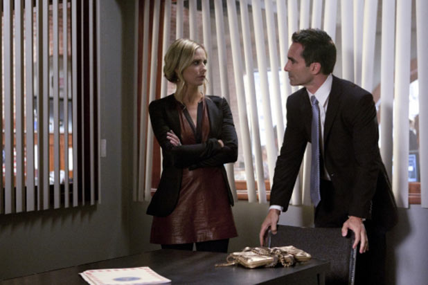 Sarah Michelle Gellar as Siobhan Martin/Bridget Kelly and Nestor Carbonell as Victor Machado