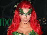 Kim Kardashian hosts the Midori Melon Green Halloween Party