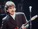 An instrument played by the Beatles member is sold at an auction in New York.