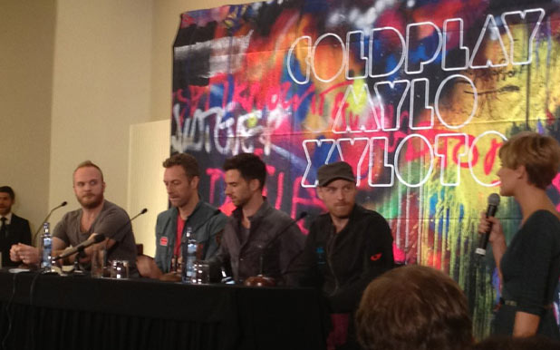 Coldplay press conference