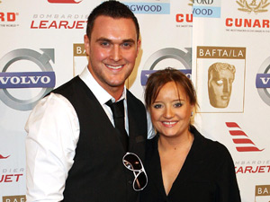 Lucy Davis and Owain Yeoman