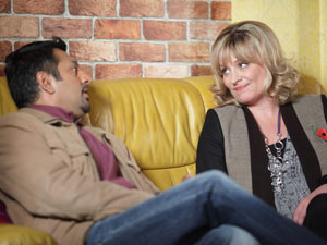 Jane and Masood catch up on each other's news