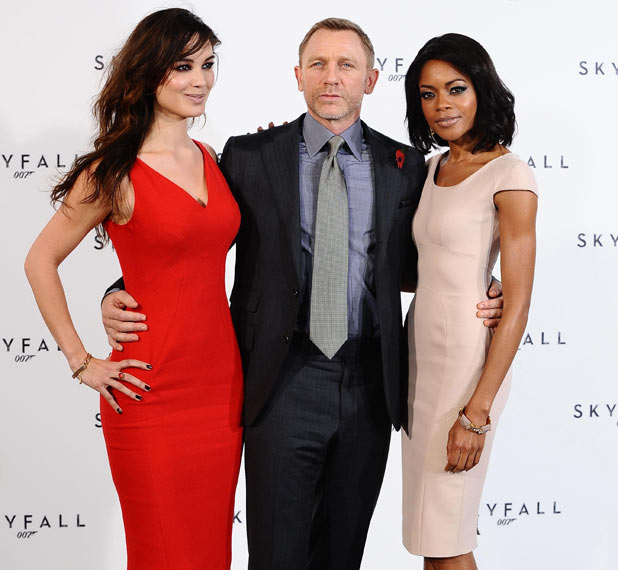 Berenice Marlohe, Daniel Craig and Naomie Harris