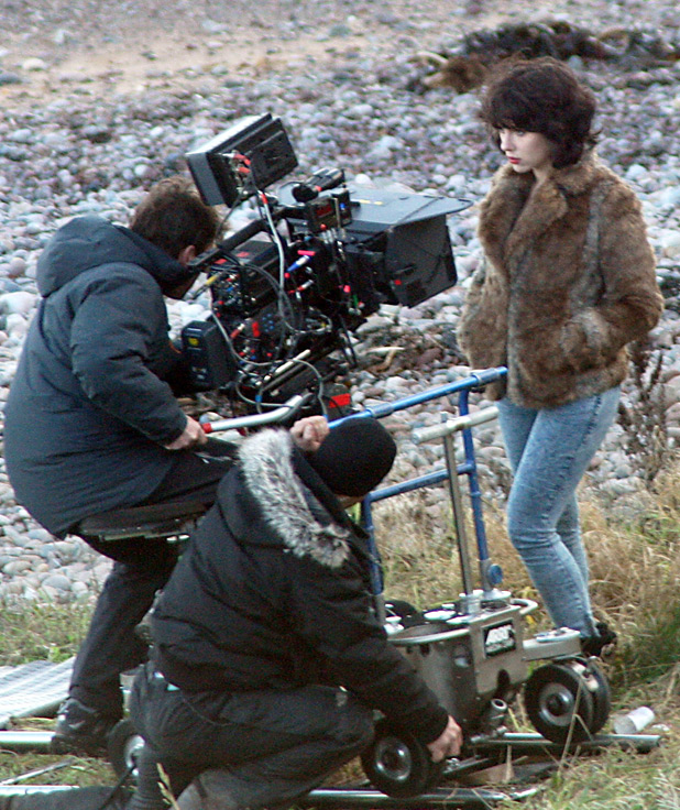Scarlett Johansson on-set 'Under The Skin' gallery