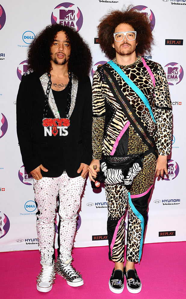 MTV Europe Music Awards 2011: Redfoo and SkyBlu of LMFAO