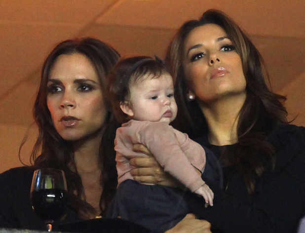 Victoria Beckham, Harper Seven and Eva Longoria