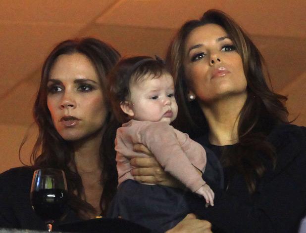 Victoria Beckham, Harper Seven and Eva Longoria