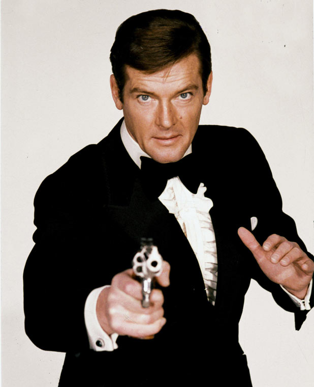 Roger Moore as Bond in Live and Let Die