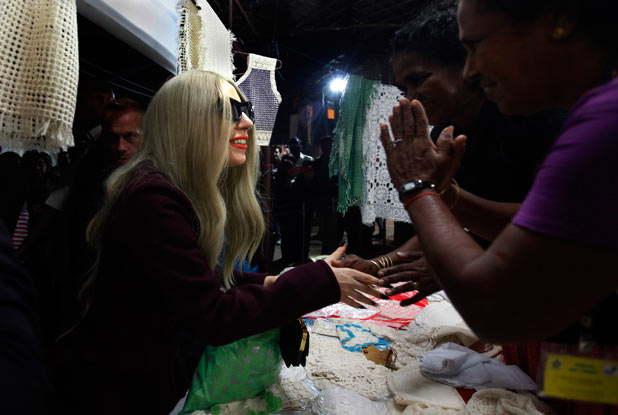 Lady Gaga in New Delhi, India