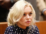 Lindsay Lohan inside the Los Angeles County Superior Court Airport Courthouse