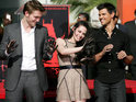 Robert Pattinson, Kristen Stewart and Taylor Lautner cement their place in Hollywood.