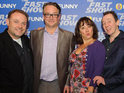 The cast and celebrity fans of The Fast Show turn out for the London premiere.