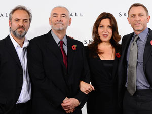Sam Mendes, Michael G Wilson, Barbara Broccoli and Daniel Craig at the James Bond: Skyfall photocall