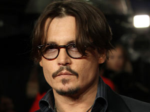 Johnny Depp arrives for the UK premiere of The Rum Diary.