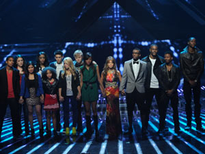 The X Factor Top 12 Results Show: Paula Abdul joins inTENsity and Stereo Hogzz on stage