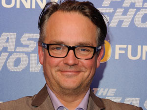 Charlie Higson looks happy at the London 'Fast Show' premiere