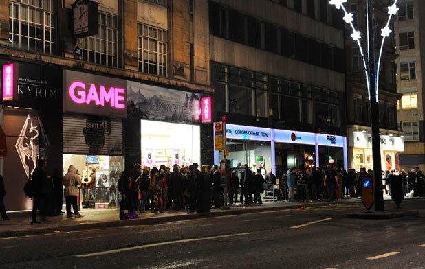 Elder Scrolls V: Skyrim launch on Oxford Street