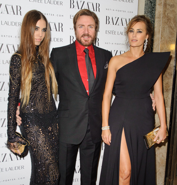 Amber, Simon and Yasmin Le Bon
