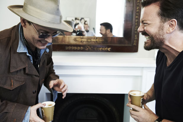 Johnny Depp, Ricky Gervais
