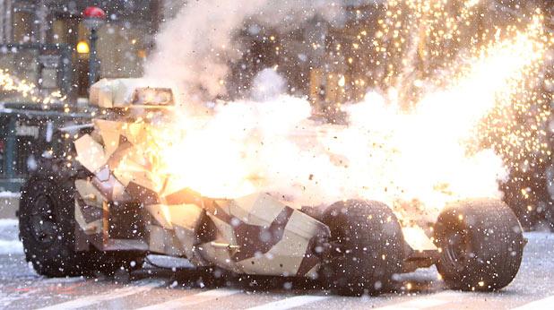 Tumbler explodes