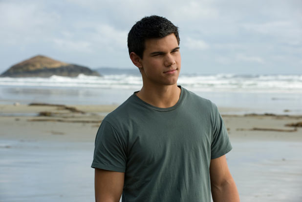 Shorn and buffed up for New Moon, Lautner's Jacob fought for the affections of Bella Swan (Kristen Stewart).