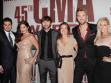 Grammy winners Lady Antebellum arrive at the ceremony.
