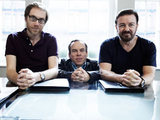Warwick Davis, Ricky Gervais and Stephen Merchant in Life's Too Short
