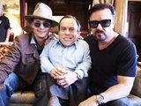Warwick Davis, Ricky Gervais and Johnny Depp t in Life's Too Short