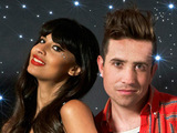 Jameela Jamil and Nick Grimshaw
