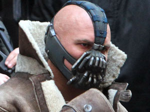 Tom Hardy as Bane on the set of 'The Dark Knight Rises'