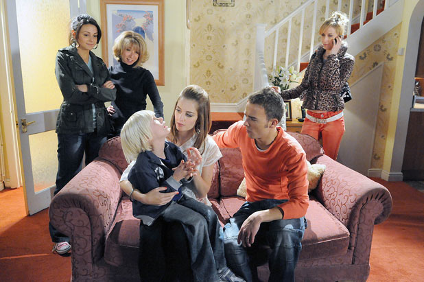 Tina returns Max to David and Kylie whilst Becky feels left out