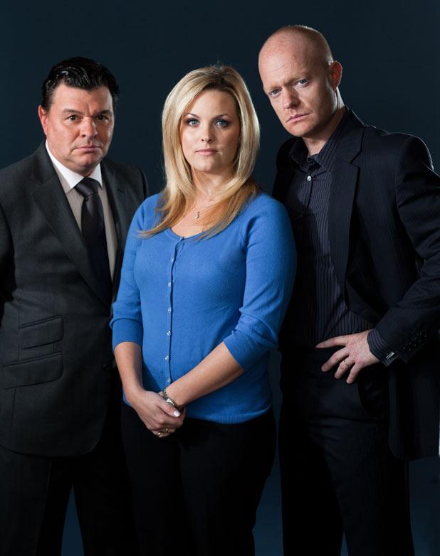 Derek Branning (Jamie Foreman), Tanya Jessop (Jo Joyner), Max Branning (Jake Wood)