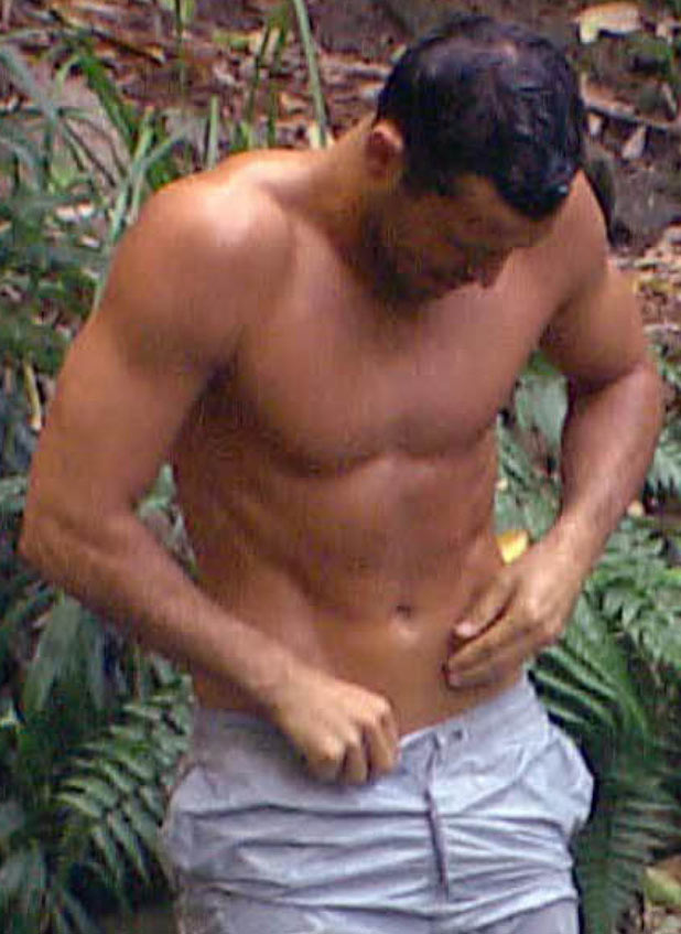 Mark Wright showering on I'm A Celebrity Get Me Out Of Here!