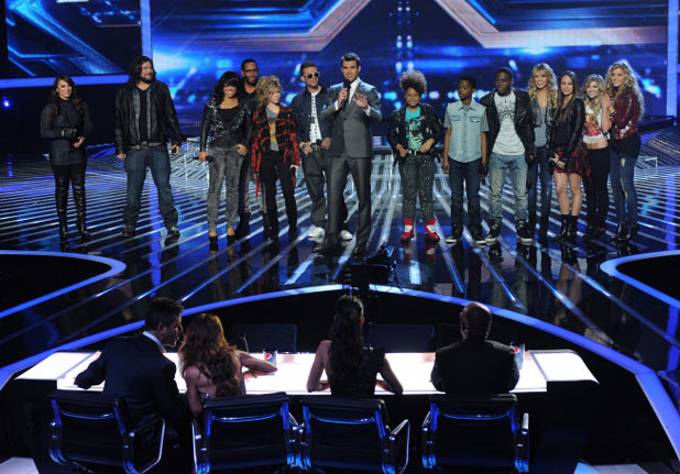 The X Factor USA Top 10 Results Show: Steve Jones and the Top 10 contestants