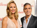 "George Clooney says his girlfriend can take him ""two out of three falls""."