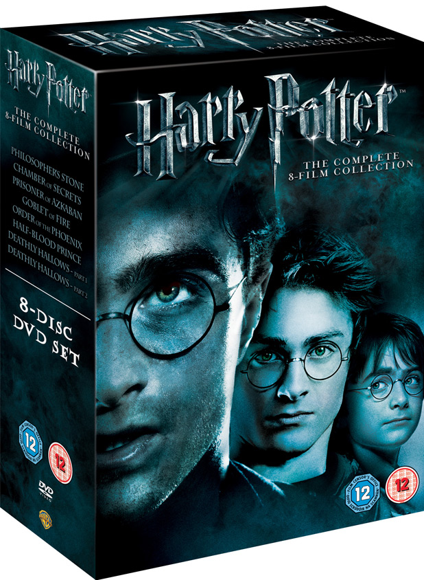 Harry Potter DVD, Blu-ray packshot