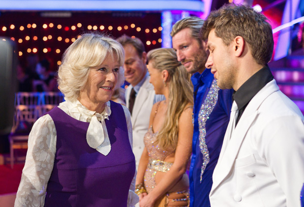 The Duchess of Cornwall and Dan Lobb