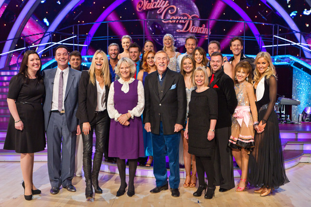 The Duchess of Cornwall and the Strictly Come Danicng stars