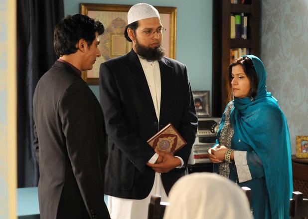 Yusef Khan (Ace Bhatti) and Zainab Masood's (Nina Wadia) wedding day