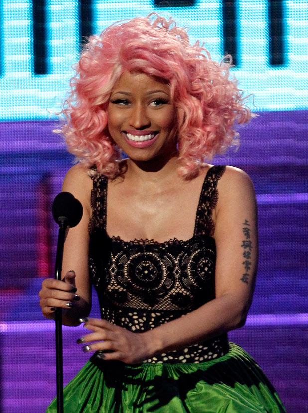 Nicki Minaj is seen onstage at the 39th Annual American Music Awards