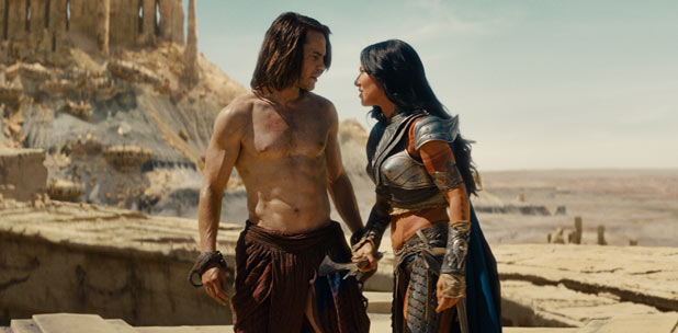 John Carter (Taylor Kitsch), Dejah Thoris (Lynn Collins)