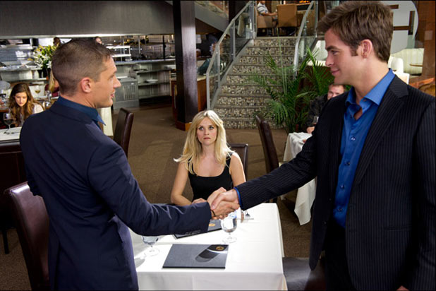 Tom Hardy Reece Witherspoon and Chris Pine in 'This Means War'