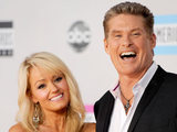 AMAs 2011 Arrivals: David Hasselhoff, right, and Hayley Roberts