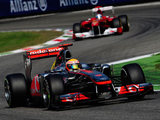 Lewis Hamilton and Fernando Alonso racing at the Spanish Grand Prix