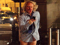 A bloodied Leigh Francis shoots Keith Lemon: The Film in Belfast.