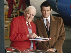 Desmond Llewelyn as Q in 'Tomorrow Never Dies'