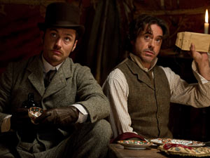 Jude Law and Robert Downey Jr in &#39;Sherlock Holmes: A Game Of Shadows&#39;