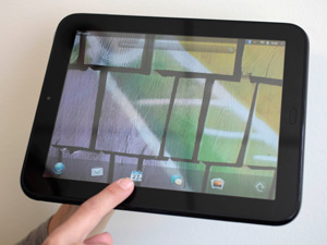 The HP TouchPad is displayed