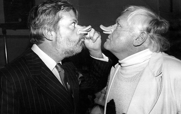 Oliver Reed and Ken Russell