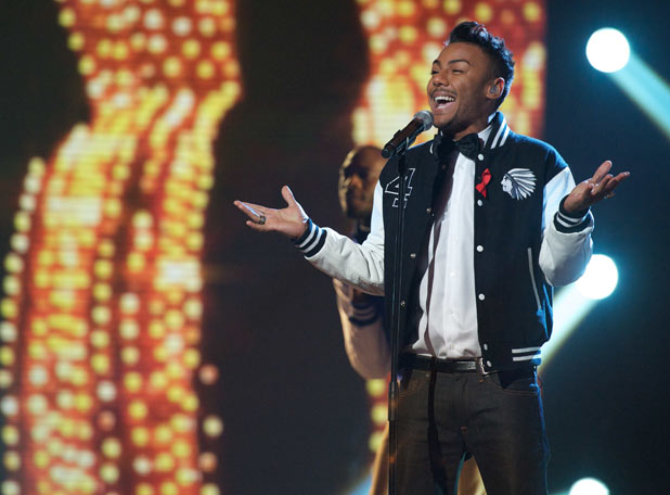 The X Factor: Marcus performs 'My girl'